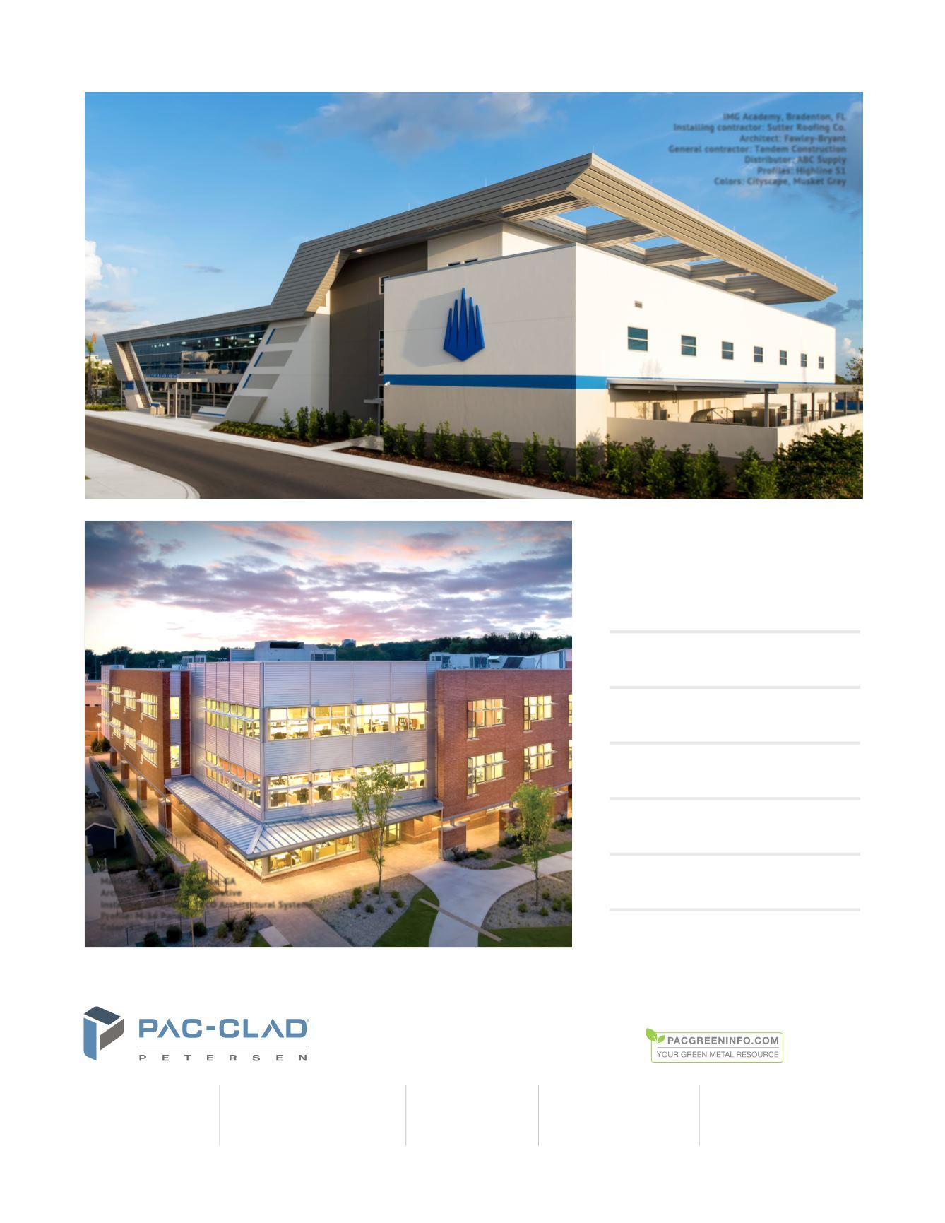Architectural Metal Brochure