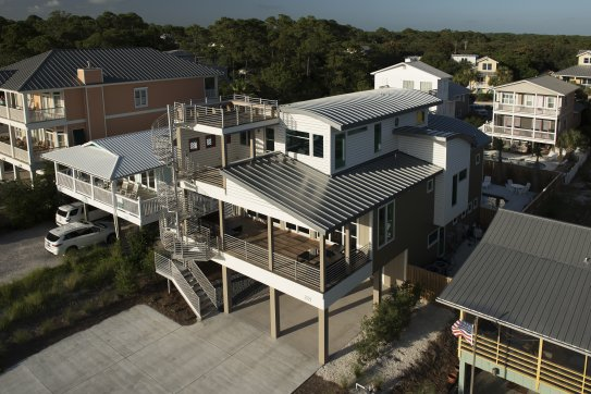 Curved roof metal roofing